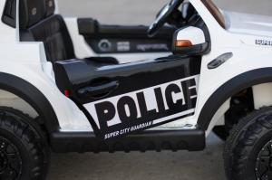 Masinuta electrica Ford Ranger F650 POLICE STANDARD 2x 35W 12V #Alb3