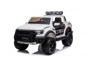 Masinuta electrica Ford Ranger F650 POLICE STANDARD 2x 35W 12V #Alb0