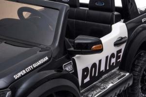 Masinuta electrica Ford Ranger F650 POLICE STANDARD 2x 35W 12V #Negru4