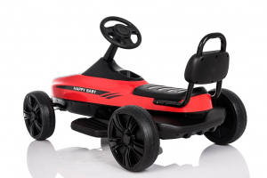 Kinderauto GO Kart electric S2788 RETRO #Rosu4