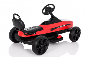 Kinderauto GO Kart electric S2788 RETRO #Rosu6