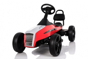 Kinderauto GO Kart electric S2788 RETRO #Rosu0