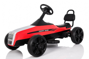 Kinderauto GO Kart electric S2788 RETRO #Rosu2