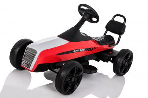 Kinderauto GO Kart electric S2788 RETRO #Rosu9