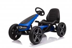 Kinderauto GO Kart cu pedale de la Mercedes #Albastru0