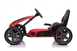 Kinderauto GO Kart cu pedale de la Mercedes #Rosu1