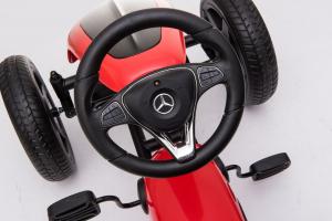 Kinderauto GO Kart cu pedale de la Mercedes #Rosu4