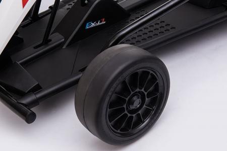 Kart electric copii SX1968, 500W, roti moi, alb [4]