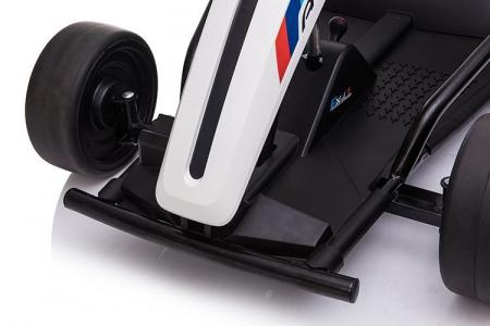 Kart electric copii SX1968, 500W, roti moi, alb [5]