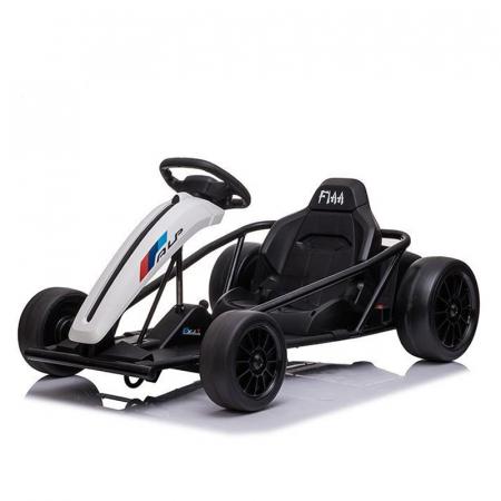 Kart electric copii SX1968, 500W, roti moi, alb [0]