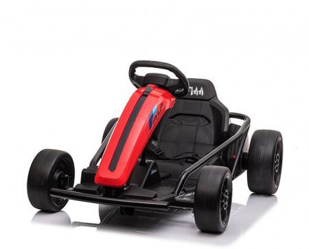 Go Kart electric pentru copii, 500W, roti moi, rosu [3]