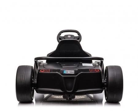 Go Kart electric pentru copii, 500W, roti moi, rosu [4]