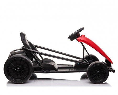 Go Kart electric pentru copii, 500W, roti moi, rosu [2]