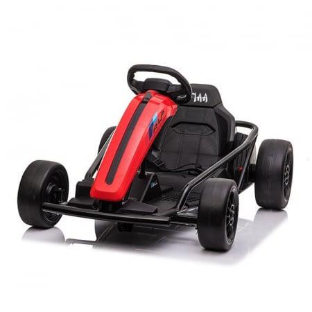 Go Kart electric pentru copii, 500W, roti moi, rosu [0]