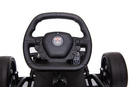 Go Kart electric pentru copii, 500W, roti moi, rosu [9]