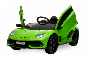 Masinuta electrica Lamborghini Aventador SVJ 70W 12V PREMIUM #Verde0