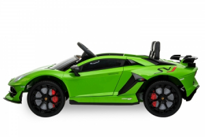 Masinuta electrica Lamborghini Aventador SVJ 70W 12V PREMIUM #Verde2