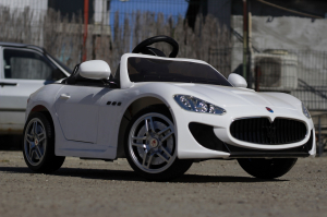 Masinuta electrica Maserati Kids CU ROTI MOI 2x 35W 12V #Alb2