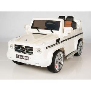 Masinuta electrica Mercedes G55 AMG 12V CU ROTI MOI #Alb2