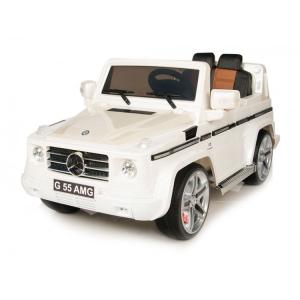 Masinuta electrica Mercedes G55 AMG 12V CU ROTI MOI #Alb3
