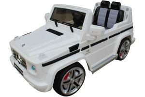 Masinuta electrica Mercedes G55 AMG 12V CU ROTI MOI #Alb0