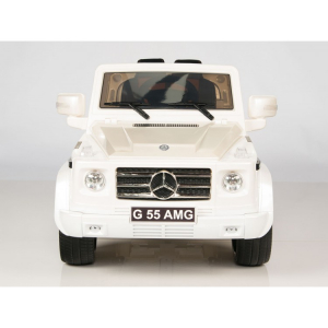 Masinuta electrica Mercedes G55 AMG 12V CU ROTI MOI #Alb1