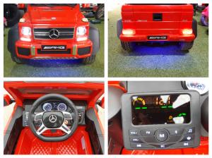 Kinderauto Mercedes G63 6x6 Premium #Rosu2