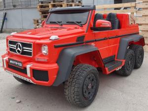 Kinderauto Mercedes G63 6x6 Premium #Rosu3