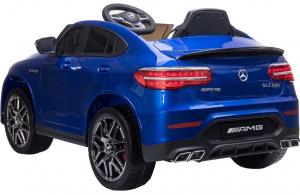 Masinuta electrica Mercedes GLC63s 70W 12V cu Scaun Tapitat #Albastru4