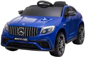 Masinuta electrica Mercedes GLC63s 70W 12V cu Scaun Tapitat #Albastru0