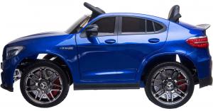Masinuta electrica Mercedes GLC63s 70W 12V cu Scaun Tapitat #Albastru3