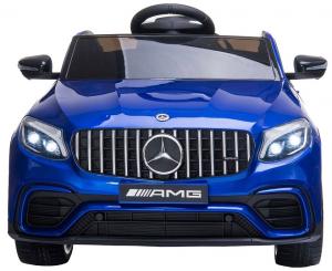 Masinuta electrica Mercedes GLC63s 70W 12V cu Scaun Tapitat #Albastru2