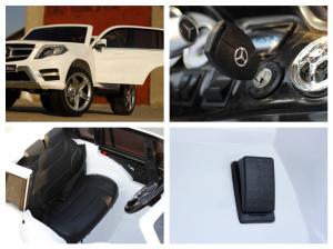 Masinuta electrica Mercedes GLK350 PREMIUM 2x35W 2X6V #Alb9