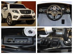 Masinuta electrica Mercedes GLK350 PREMIUM 2x35W 2X6V #Alb8