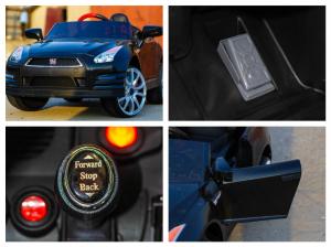 Masinuta electrica Nissan GTR R35 STANDARD 2x 35W 12V #Negru9