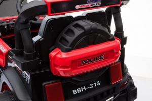Masinuta electrica POLICE BBH-318 2x35W STANDARD #Rosu5