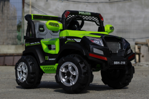 Masinuta electrica POLICE BBH-318 2x35W STANDARD #Verde3