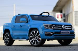 Masinuta electrica VW Amarok Pickup PREMIUM #Albastru3