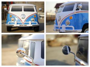Kinderauto VW Samba Bus 2x45W, PREMIUM #Albastru8