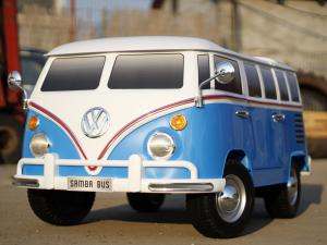 Kinderauto VW Samba Bus 2x45W, PREMIUM #Albastru1