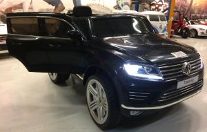 Masinuta electrica VW Touareg CU ROTI MOI 2x 35W 12V #Negru3