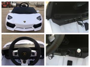 Masinuta electrica Lamborghini Aventador LP 700-4 STANDARD #Alb8