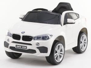 Masinuta electrica BMW X6M 2x35W 12V PREMIUM #Alb0