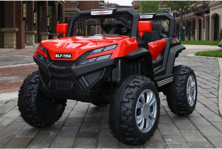 Masinuta electrica 4x4 Kinderauto BJF119A 120W 12V cu Scaun TAPITAT #Rosu [1]