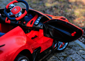 Masinuta electrica Buggati Divo 2x45W 12V PREMIUM #Rosu4