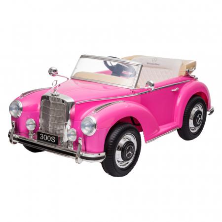 Masinuta electrica roz pentru copii Mercedes 300S [1]