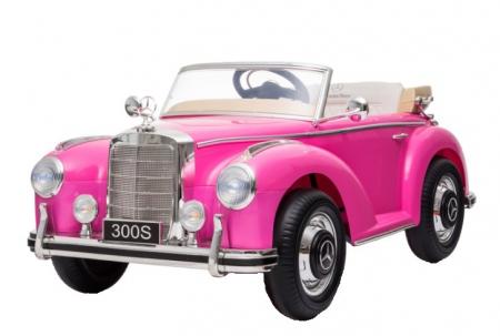 Masinuta electrica roz pentru copii Mercedes 300S [0]