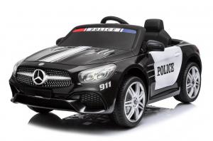 Masinuta electrica de politie Mercedes SL500 90W STANDARD #Negru0
