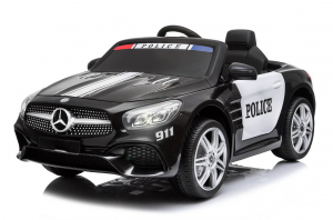 Masinuta electrica de politie Mercedes SL500 90W PREMIUM #Negru [0]