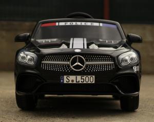 Masinuta electrica de politie Mercedes SL500 90W STANDARD #Negru1